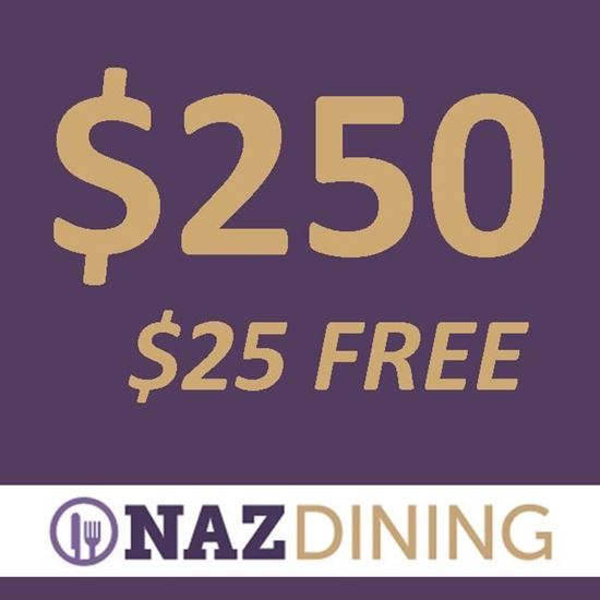 Picture of $250 Dining Dollars + $25 Dining Dollars FREE